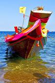 Tekne ise Asya kho Tayland ve deniz — Stok fotoğraf