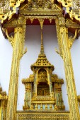pavement    in   bangkok  thailand incision   temple  — Stock Photo