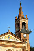 Rose window  italy  lombardy     in  the parabiago old   church  — Foto Stock