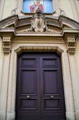 Church caiello gallarate varese italy the old   entrance  mosaic — Stock Photo