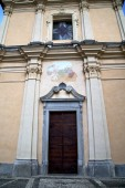 Italy  lombardy     in  the somma lombardo  church   tower step — Stock Photo