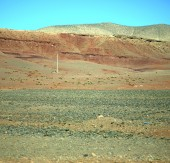 Valley in   africa morocco the atlas dry mountain ground isolate — Stock fotografie