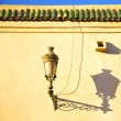 Street lamp in morocco roof tile — Stock Photo #78525200