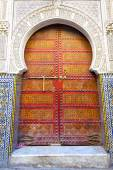 Historical in  antique building door morocco style africa   wood — Stock Photo