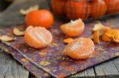 Zralé a šťavnaté mandarinka hřebíček — Stock fotografie