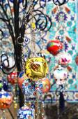 Colorful turkish ceramic decorative balls for interior decor — ストック写真