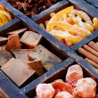 Chocolate, kumquats and spices set — 图库照片 #70107215