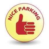Nice parking sticker — Stock Vector