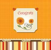 Congrats card with stripes — Stock Vector