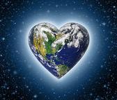 Heart Earth — Stock Photo