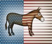 Patriotic Donkey — Stock fotografie