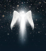 Angel in the Night Sky — Stock Photo
