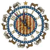 Election Countdown Clock — Stock Photo
