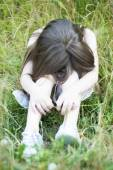 Nešťastné holčička pláče — Stock fotografie