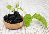 Bowl of Blackberries — Stock Photo