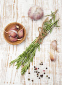 Rosemary, Pepper and Garlic — Stock Photo