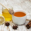 Fresh honey and tea — Stock Photo #55041769