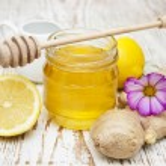 Honey,  lemon and ginger — Stock Photo #55495415