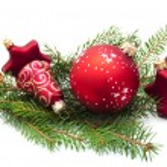 Christmas ornaments on white — Stock Photo #56609067