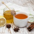 Fresh honey and tea — Stock Photo #56609203