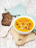 тыквенный суп — Стоковое фото
