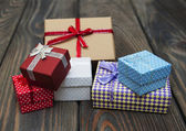 Vintage gift boxes  package — Stock Photo