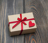 Vintage gift box package — 图库照片