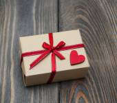 Vintage gift box package — Stock Photo