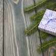 Christmas trees with heap of gift boxes — Stock Photo #58639935