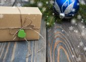 Christmas trees with  gift box — Foto de Stock