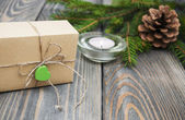 Christmas trees with  gift box — Стоковое фото