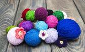Color woolen clews — Stock Photo