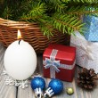fir tree with gifts  — Stock Photo #58764375