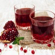 Two glasses of pomegranate juice — Stock Photo #59278845