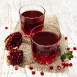 Two glasses of pomegranate juice — Stock Photo #59351927