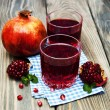 Two glasses of pomegranate juice — Stock Photo #59518311