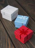 Vintage gift boxes — ストック写真