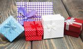 Vintage gift boxes — Stock Photo