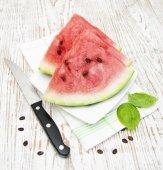 Slices of watermelon — Stock fotografie