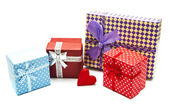 Vintage gift boxes — Stock Photo