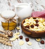 Healthy breakfasts — Stock Photo