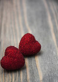 Two Red hearts — Stock Photo