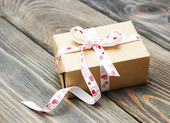Gift box package — Foto Stock