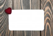 Red heart and greeting card — Stockfoto