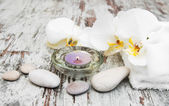 Orchids spa — Stock Photo