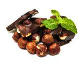 Dark  chocolate with nuts — Stock Photo