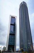 Cuatro Torres Business Area (CTBA) building skyscrapers — Stock Photo