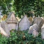 Tombstones on Old Jewish Cemetery in Prague — Stock Photo #66930533