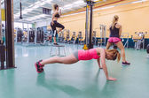 Women group training in a crossfit circuit — Stock Photo