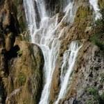 Beautiful landscapes waterfall, rock walls, stunning nature views in National park Plitvice lakes - Plitvička jezera, Croatia — Stock Photo #52970001